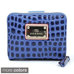 Anais Gvani Croco Embossed Bi-fold/ Zip-Around Wallet