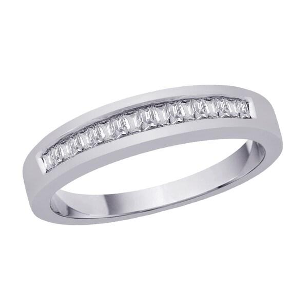 Sterling Silver 1/3ct TDW Diamond Wedding Band (H-I, I2-I3)