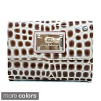 Anais Gvani Classic Petite Croco Embossed Bi-fold Wallet