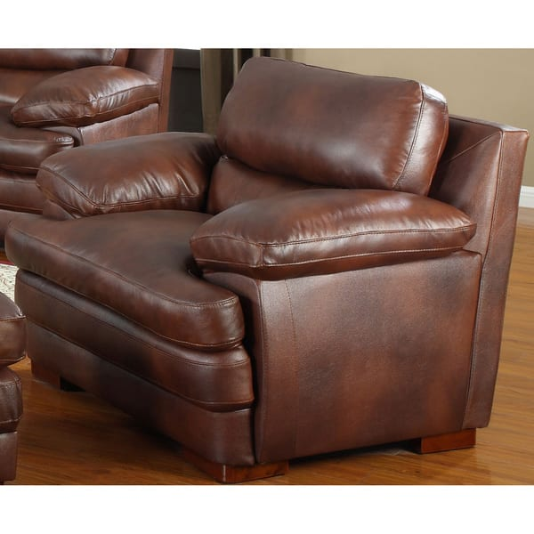 Peachy Shop Baron Brown Leather Sofa Set Free Shipping Today Evergreenethics Interior Chair Design Evergreenethicsorg