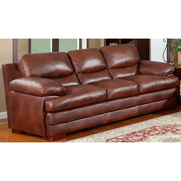 Groovy Shop Baron Brown Leather Sofa Set Free Shipping Today Evergreenethics Interior Chair Design Evergreenethicsorg