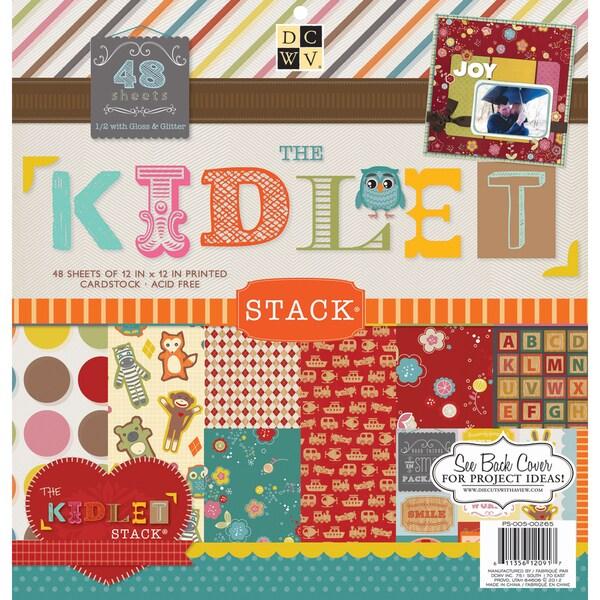 "Kidlet Paper Stack 12""X12"" 48/Sheets-24 Designs/2 Each"