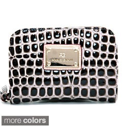 Anais Gvani Classic Petite Croco Embossed Zip-Around Wallet