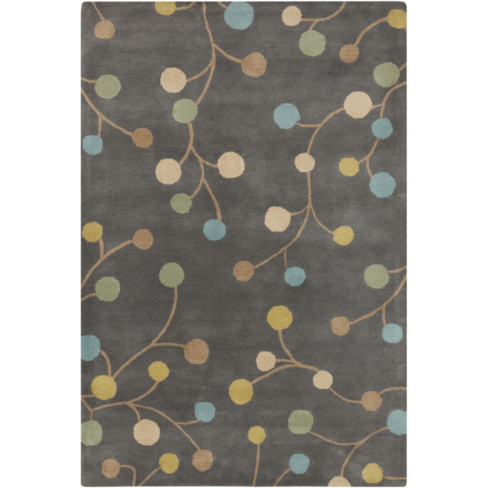 SURYA Hand-tufted Eureka Grey Floral Wool Rug (2' x 3'), ...