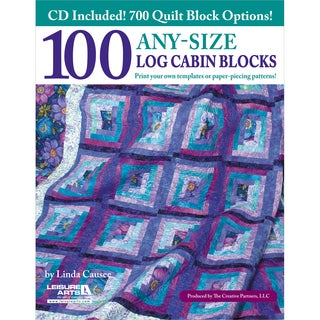 Leisure Arts-100 Any-Size Log Cabin Blocks