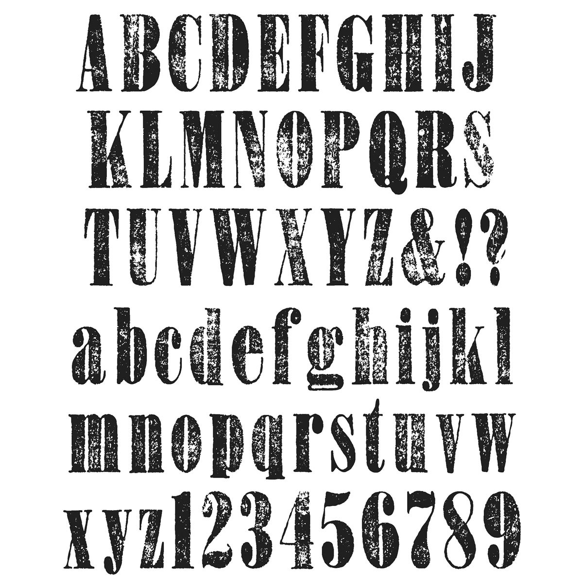 Stampers Tim Holtz Large Cling Rubber Stamp Set-Worn Text...