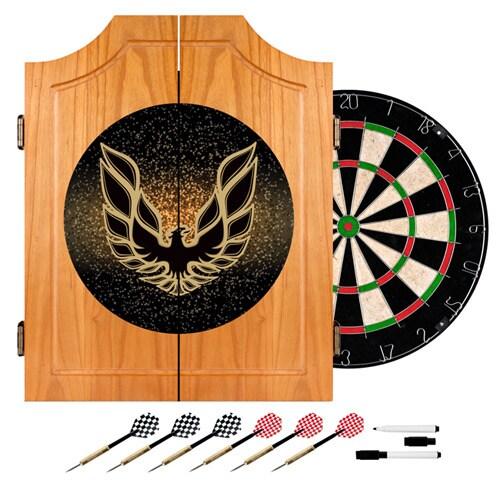 Pontiac Firebird Wood Dart Cabinet Set