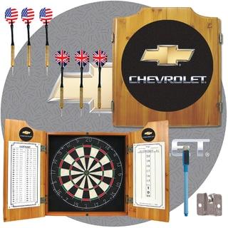 Chevy Dart Board Cabinet Set