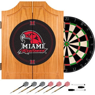 Officially Licensed NCAA Logo Dart Cabinet Set (More options available)