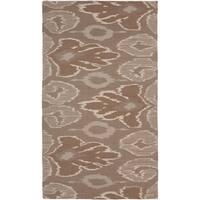 Hand-woven Flatweave Reversible Wool Area Rug - 5' x 8'