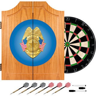 Police Officer Wood Dart Cabinet Set