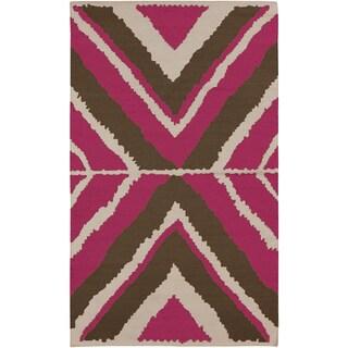 Hand-woven Wool Rug (3'3 x 5'3)