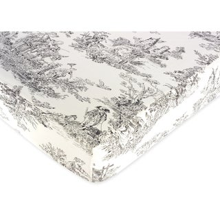 Sweet JoJo Designs Fitted Crib Sheet in French Black Toile