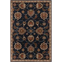 Hand-tufted Ebba Traditional Blue Oriental Wool Area Rug (4' x 6')