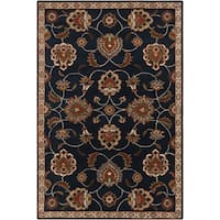 Hand-tufted Ebba Traditional Blue Oriental Wool Area Rug (10' x 14')