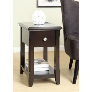 Dark Espresso Single-drawer Side Table