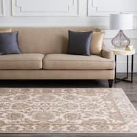 Celmens Traditional Grey Oriental Area Rug - 7'6 x 10'6