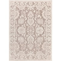 Woven Britta Traditional Grey Oriental Area Rug - 7'6 x 10'6