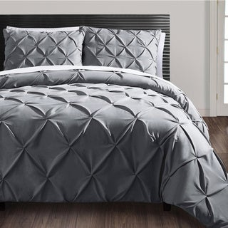 vcny carmen 3piece pintuck duvet cover set