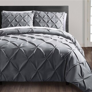 VCNY Carmen 3-piece Pintuck Duvet Cover Set (Option: Queen)