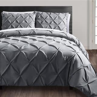 Vcny Carmen 3 Piece Pintuck Duvet Cover Set