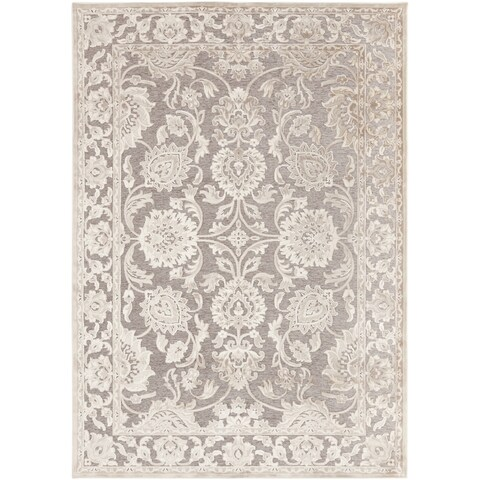 Copper Grove Lady's Mantle Oriental Border Area Rug - 5'3 x 7'6
