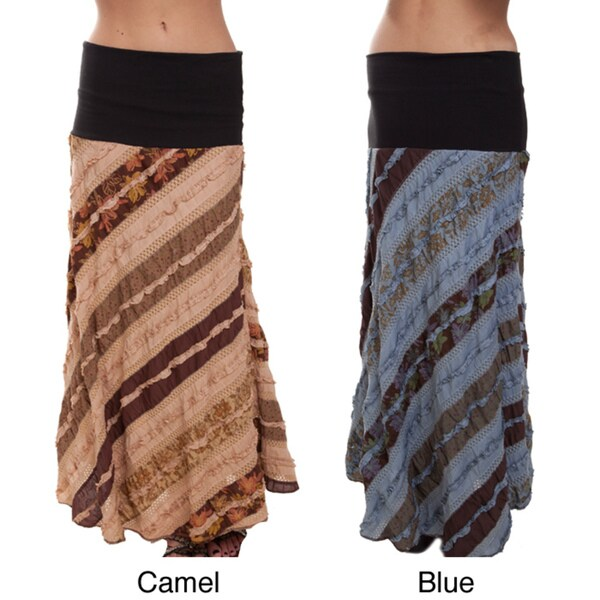 Country Chic Cotton Long Skirt (Nepal)