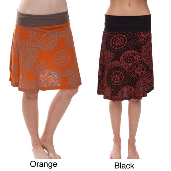 Mandala Print Summer Short Skirt (Nepal)