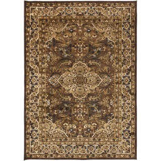 Bartram Traditional Green Oriental Rug (7'6 x 10'6)