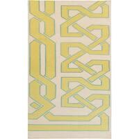 Hand-woven Adelmo Reversible Wasabi Wool Area Rug - 5' x 8'