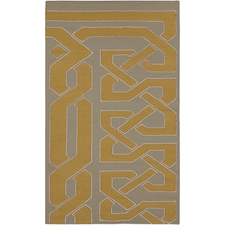 Hand-woven Grey Wool Rug (3'3 x 5'3)