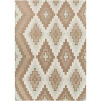 Hand-woven Wool Area Rug - 3'3 x 5'3