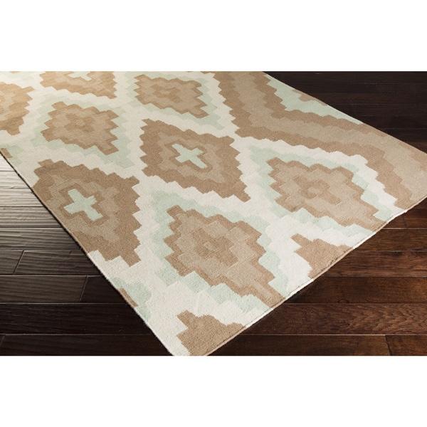 Hand-woven Adlai Reversible Dove Wool Area Rug - 5' x 8'
