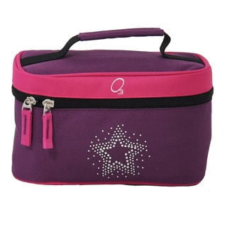 Obersee Bling Rhinestone Star Train Case Toiletry / Accessory Bag