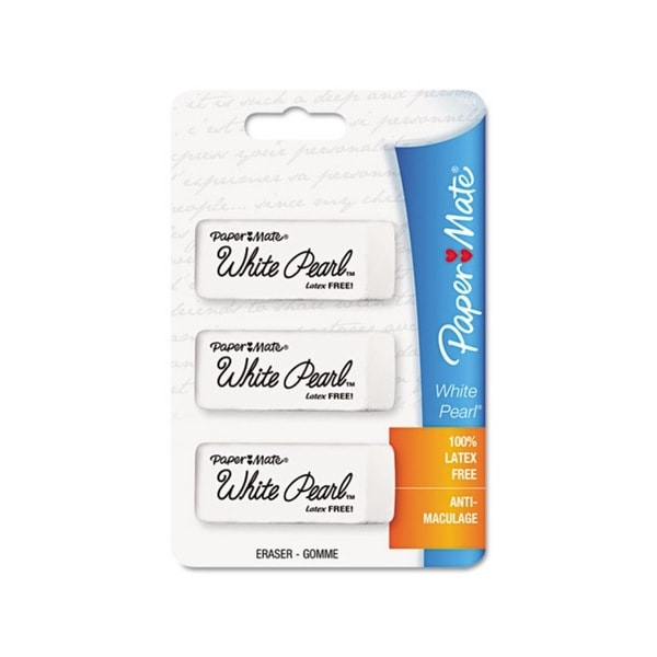 Pilot Latex-free White Pearl Erasers (Pack of 3)