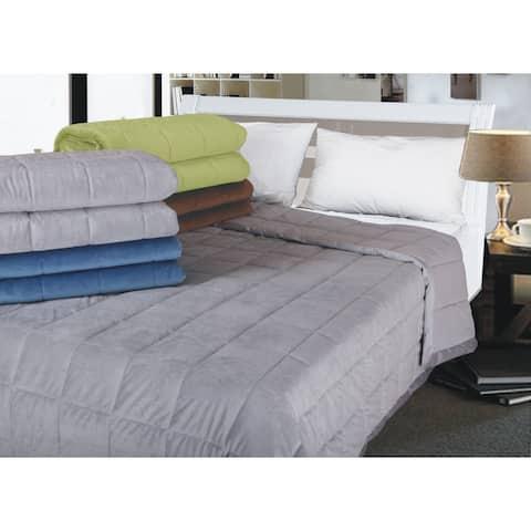 All-season Oversized Microplush Reversible Down Alternative Blanket