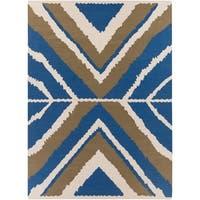 Hand-woven Adonis Flatweave Wool Area Rug - 8' x 11'