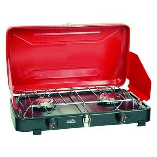 Texsport 'Rainier' Compact Red Dual-burner Propane Stove
