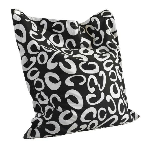 Powell Phoebe C Pattern Black and White Bean Bag