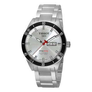 Tissot Men's 'PRS 516' Stainless Steel Brushed Silver Dial Calendar Watch