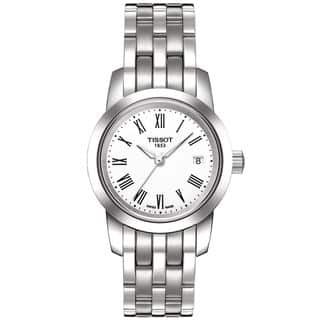 Tissot Women's 'Classic Dream' Stainless Steel White Dial Watch|https://ak1.ostkcdn.com/images/products/7723451/P15126123.jpg?impolicy=medium