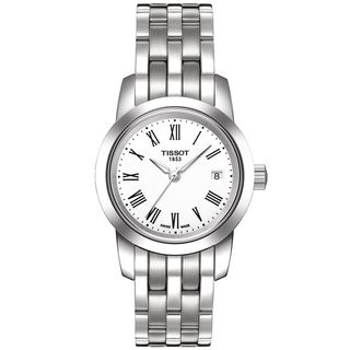 Tissot Women's 'Classic Dream' Stainless Steel White Dial Watch