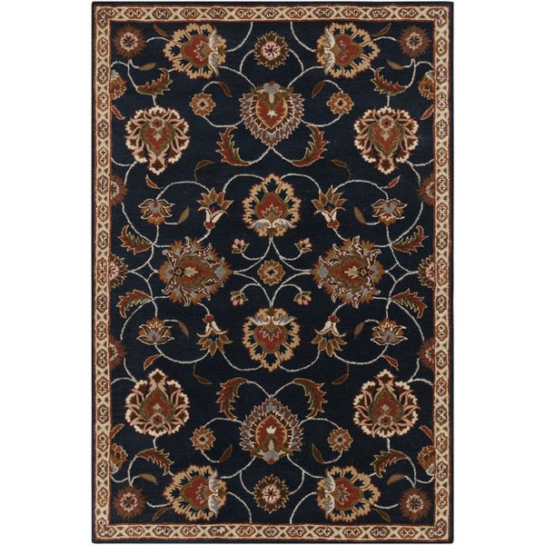 Hand-tufted Ebba Blue Wool Area Rug - 8' x 11'