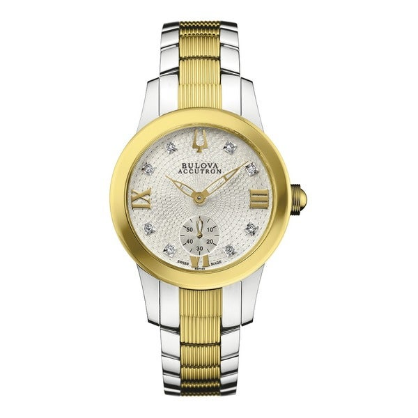 Bulova Accutron Women's 65P100 Swiss Diamond Hour Markers Watch