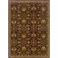 Copper Grove Rouyn Indoor Floral Brown/ Beige Area Rug - 9'10 x 12'9