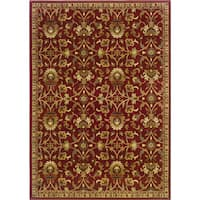 Laurel Creek Stanley Indoor Floral Red/ Ivory Area Rug - 9'10 x 12'9