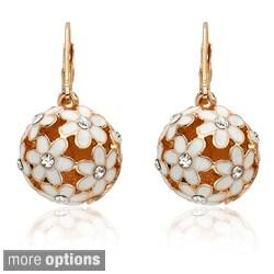 Riccova Color-plated Crystal Flower Ball Earrings