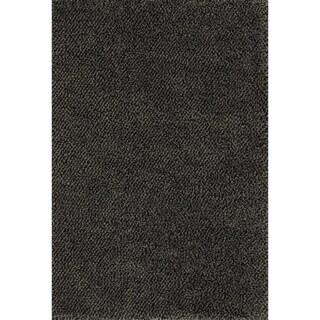 Indoor Shag Blue/ Brown Rug (9'10 x 12'7)