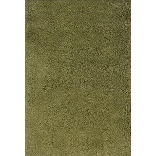 Indoor Shag Green/ Tan Shag Rug (9'10 x 12'7)