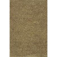Indoor Shag Brown/ Ivory Rug - 9'10 x 12'7